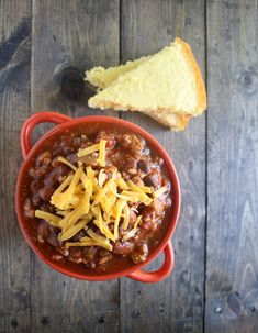 Slow cooker healthy turkey chili. Yum!