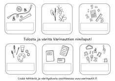 Koulu - Värinautit Preschool Crafts, Playing Cards, Bullet Journal, Coloring, Google, Playing Card Games, Game Cards, Playing Card