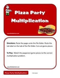 This game is fun way for students to practice their multiplication facts. Find more free file folder games at www.filefolderfarm.comPlease leav...