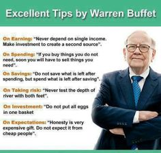 W. Buffet Money saving tips