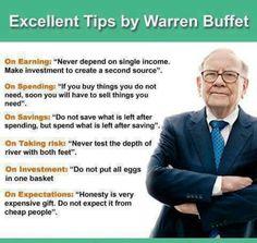 W. Buffet Money saving tips