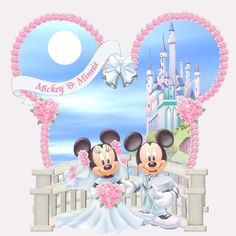 Minnie and Mickey Mouse Wedding Mickey Mouse Pictures, Mickey Mouse Art, Mickey Mouse Wallpaper, Disney Wallpaper, Cute Disney, Disney Mickey, Mickey And Minnie Wedding, Disney Clipart, Disney Designs