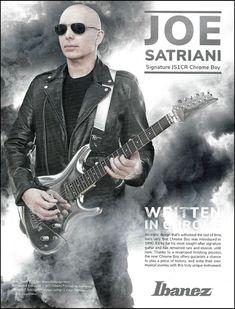 Joe Satriani Signature Ibanez JS1CR Chrome Boy guitar advertisement 2019 ad #Ibanez Joe Satriani, Joe Bonamassa, Learn Guitar Online, Leslie West, Learn Guitar Chords, Guitar Magazine, Signature Guitar, Kirk Hammett, Les Paul Custom