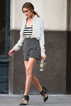 Olivia Palermo. See 49 more stars' take on the striped shirt, a style staple that like the white button-down and perfect-fit skinnies will never go out of style.