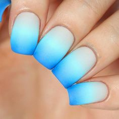 Ombre with fine crosses of one color to another… Irresistibly reminds on the sea and sea depths.