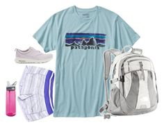 """""""Not ready for school to start"""" by ava-lindsey ❤ liked on Polyvore featuring lululemon, NIKE, Patagonia and CamelBak"""