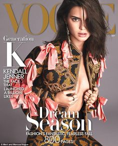 On Thursday, the magazine and the Keeping Up With The Kardashians celebrity simultaneously revealed she had not only made her cover debut, she had done so on its September issue