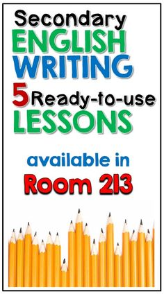 Five ready to use writing lessons to help your students become better writers!  #writinglessons