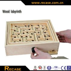 Wooden Marble Labyrinth Moving Maze Game Puzzle Toys