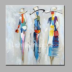 Peint à la main Personnage Carré,Moderne Un Panneau Toile Peinture à l'huile Hang-peint For Décoration d'intérieur de 2017 ? €37.83