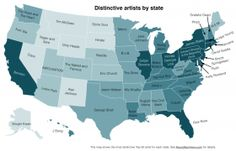Mapping Differences In America's Musical Tastes, State By State | Boise State Public Radio