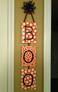Hand Painted Halloween Canvas by PinkTurtleDesigns822 on Etsy