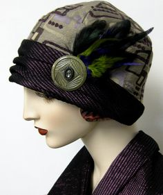 1920s Retro Tapestry Cloche A chance encounter with a fabulous piece of retro tapestry, and coordinating trim resulted in the inspiration