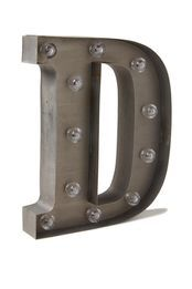 letter marquee light, D