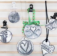 DIY Faux Pewter pendants using polymer clay by Crafts Unleashed, featured @savedbyloves