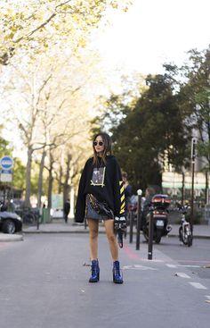 aimee_song_of_style_paris_fashion_week_off_white_hoodie_louis_vuitton_skirt_louis_vuitton_bag