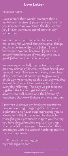 Wedding Quotes : Picture Description Hi sweet heart, Love is more than words; it's more than a sentence on a piece of paper, and my love for you is More Than Love, More Than Words, My Love For You, The Words, Love Poems, Love Quotes For Him, Amor Ideas, Letters To Boyfriend, Boyfriend Ideas