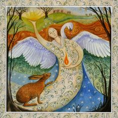 Goddess Festival - Imbolc : Animals/Wildlife : Cards by Theme : Home : Fairy cards, pagan/mystical cards, fantasy cards, fantasy prints and gifts at Moondragon Cards.com