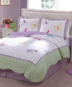 Take a look at this Butterfly Spring Quilt Set by Pem America on #zulily today!