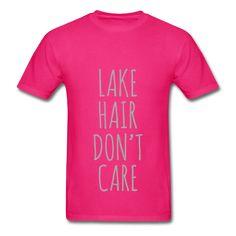 SILVER GLITZ PRINT! Lake Hair Don't Care, Unisex T-Shirt