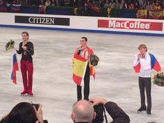 Sergei Voronov(Russia), Javier Fernandez(Spain) and Konstantin Menshov(Russia)
