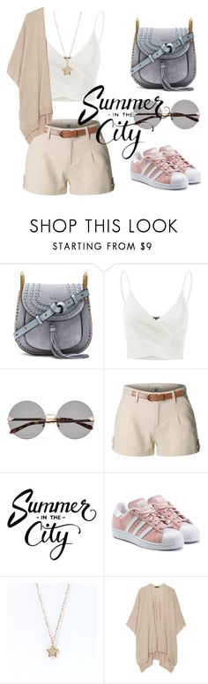 """""""Shooting star"""" by jeezel ❤ liked on Polyvore featuring Chloé, Doublju, Karen Walker, LE3NO, adidas Originals and The Row"""
