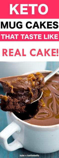 25 Healthy Low Carb Mug Cake Recipes To Make In Minutes. The Best Keto Mug Microwave Cake Recipes, Low Carb Flourless Coconut Flour Desserts, All Flavors from Snickerdoodle to Chocolate Cake. Coconut Flour Desserts, Köstliche Desserts, Dessert Recipes, Holiday Desserts, Coconut Flour Mug Cake, Dessert Ideas, Coconut Flour Recipes Low Carb, Dinner Recipes, Cake Mug