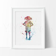 Harry Potter Dobby Nursery Art Print Wall Decor. Affordable handmade nursery art prints that compliment any style nursery project you have in mind.
