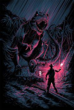 Jurassic Park Tattoo, Jurassic Park 1993, Jurassic Park World, Jurrassic Park, Park Art, Dan Mumford, Parc A Theme, Beau Film, Horror