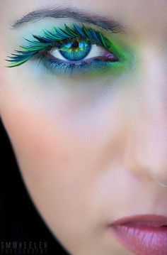 Colour Bold Bright Eyes Lashes Fake Long Girl Makeup Fashion Style Face Cheek