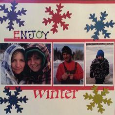 Scrapbook page enjoy winter