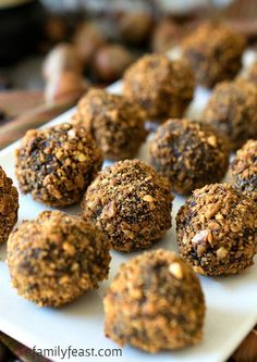 Hazelnut Truffles - Sinfully good but easy to make!  These are so good they should be illegal!