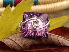 Wire wrapped 18g Sterling Silver Light Amythyst by CrystalBaubles, $27.95