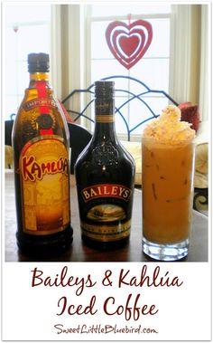 Baileys & Kahlúa Iced Coffee - Delicious!  | SweetLittleBluebird.com