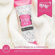 Take your toes from icy to spicy! Warm and moisturize your feet naturally with this luxuriously rich foot balm. Orange and cardamom essential oils enhance your cozy-toe experience. Apply generously to feet as needed. To find the newest Perfectly Posh items from the SS16 catalog please visit http://sarahs.po.sh today!!