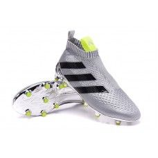 Shop Online Botas De Futbol Adidas Mujer ACE 16+ Purecontrol FG/AG Para Plateado Negro Amarillo