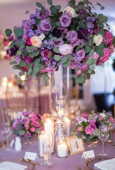 Violet wedding - 39 Lavender Wedding Decor Ideas You'll Totally Love – Violet wedding Purple Wedding Decorations, Purple Wedding Bouquets, Lilac Wedding, Floral Wedding, Wedding Colors, Diy Wedding, Lavender Weddings, Flower Bouquets, Autumn Wedding