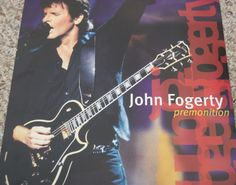 """John Fogerty / Premonition / 1998 Reprise Records Double Sided Promo Poster / 12"""" x 12"""" #Fogerty #Creedence #Poster"""