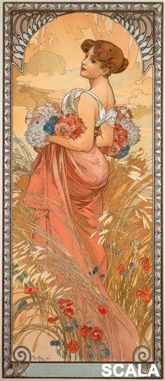 Alphonse Mucha - Affreschi vendita affreschi su tela,vendita affreschi per muro,falsi d'autore,decoupage effetto affresco