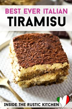 This easy Tiramisu is quick, uses few ingredients and is an authentic, classic Italian recipe that will never get old! Serve this Tiramisu to your family or friends and they will love you forever! Authentic Tiramisu Recipe, Classic Tiramisu Recipe, Authentic Italian Desserts, Best Tiramisu Recipe Ever, Easy Italian Desserts, Homemade Tiramisu, Italian Appetizers, Best Italian Recipes, Bonbon