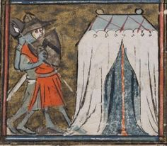 Medieval tent with centre pole?