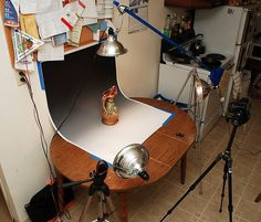 how I shoot photos of ceramics on my kitchen table! by Brian Searle, via Flickr