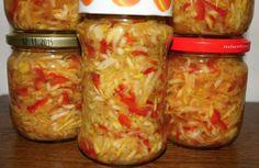 Canning Vegetables, Czech Recipes, Preserves, Zucchini, Mason Jars, Frozen, Food And Drink, Pumpkin, Homemade