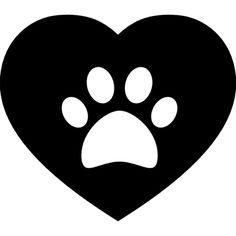 Dog pawprint on a heart Free Icon Dog Mask, Dog Tattoos, Rock Crafts, Animal Crafts, Heart Art, String Art, Pattern Wallpaper, Rock Art, Dog Love