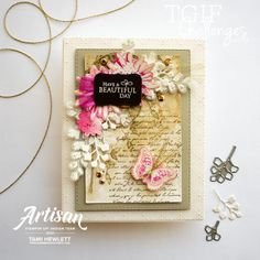 #TGIFC312 — Very Vintage | Swimming In Stamps Diy Birthday, Birthday Cards, Fun Challenges, Have A Beautiful Day, Coordinating Colors, Card Making Inspiration, Creative Crafts, Vintage Cards, Soft Colors