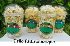 Set of 12 Ninja Turtle Party Cups Ninja Turtle by HelloFaith