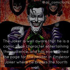 Joker breakin the fourth wall