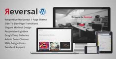 Download and review of Reversal - Horizontal One Page WordPress Theme, one of the best Themeforest Corporative themes