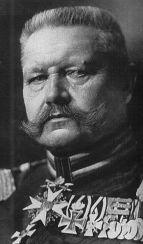 von Hindenberg, Generalfeldmarschall und Reichspresident.