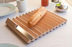 Brussard Design Pragma - which is basically two Agma laid one on top of the other - Bread Board #swiss #design #industrial _design #modern #kitchen #Scandi #home